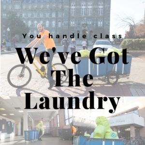 You handle class.  We've got the laundry.  Collage of laundry service images.